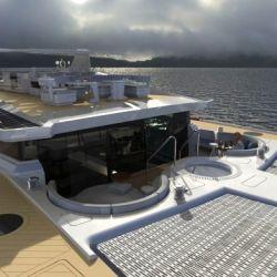 """Su diseñador, Alexandre Thiriat, describió la embarcación como una """"isla privada para aventuras alrededor del mundo""""."""