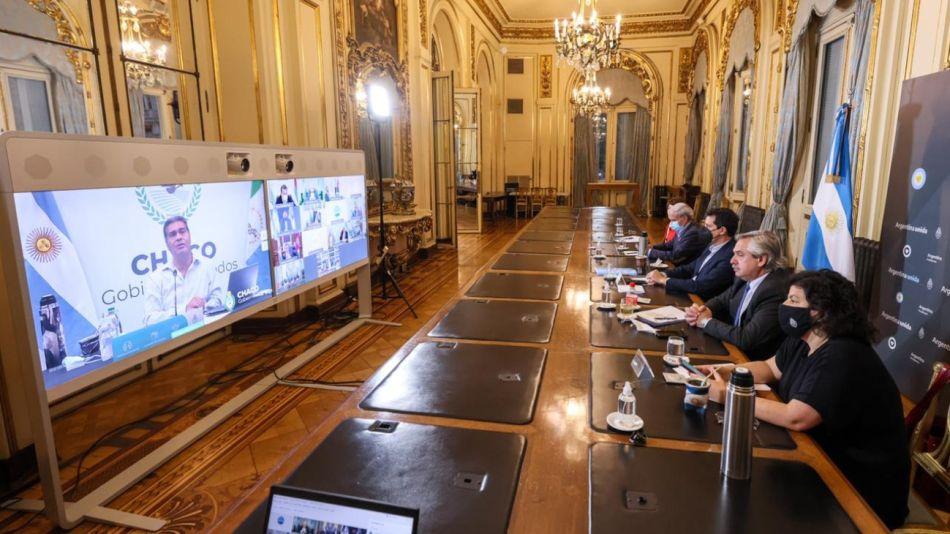 Alberto Fernández reunion gobernadores g_20210427