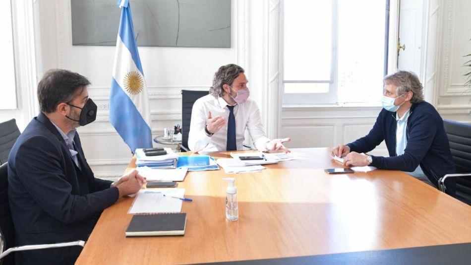 Santiago Cafiero, Felipe Miguel y Carlos Bianco