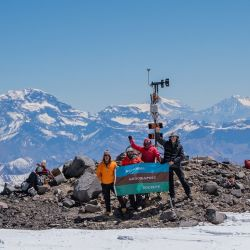 La expedición para su instalación estuvo a cargo de miembros de la National Geographic Society.
