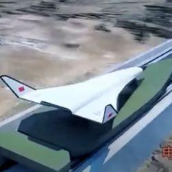 La segunda nave está diseñada para ser lanzada desde una catapulta electromagnética gigantesca.