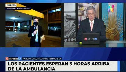 Hospital Paroissien saturado en La Matanza