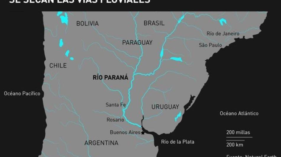 Se secan las vías fluviales