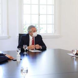 Kicillof, Fernández y Larreta.