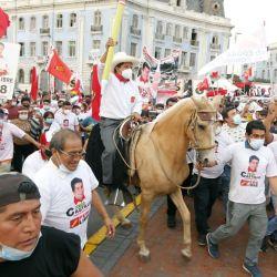 Pedro Castillo en Chota. | Foto:DPA