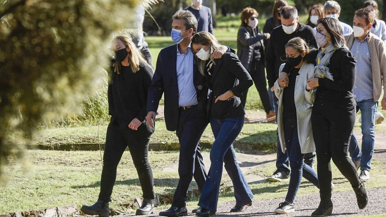 Massa y Galmarini en el funeral de Meoni | Foto:Cedoc