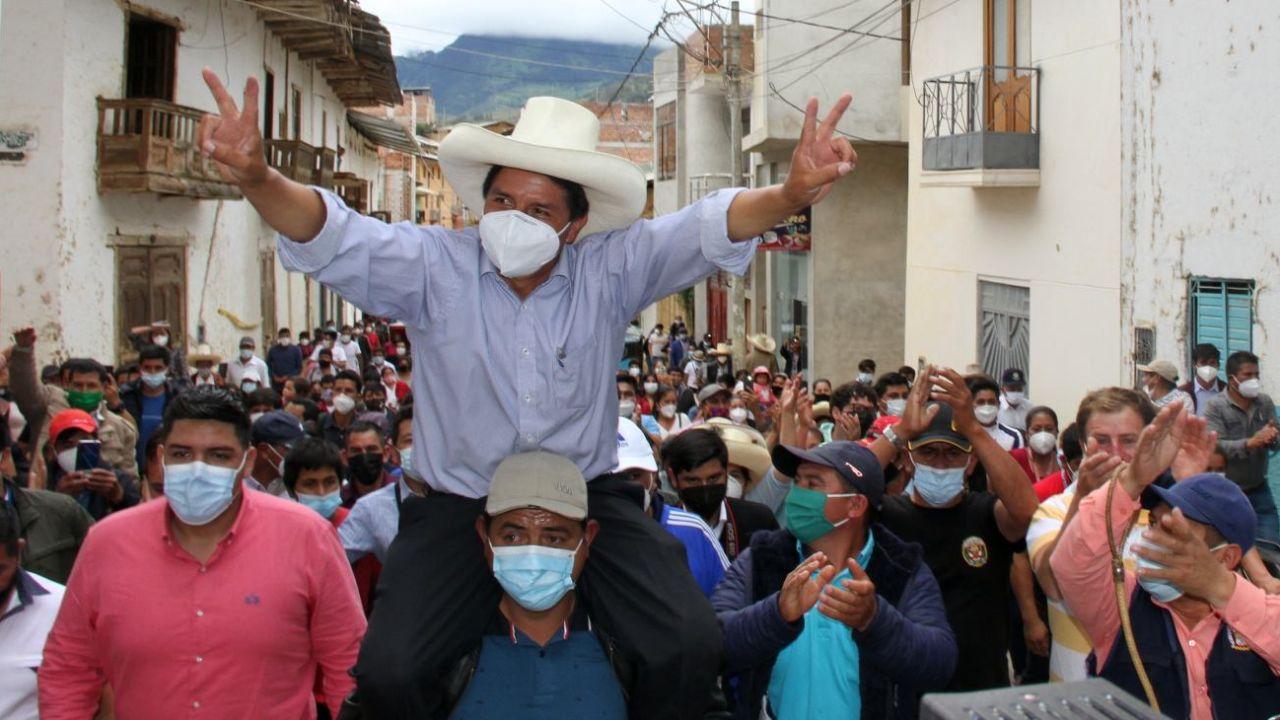 Pedro Castillo es el favorito en las encuestas peruanas.  | Foto:DPA
