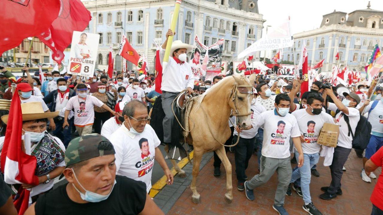 Pedro Castillo en Chota.   Foto:DPA