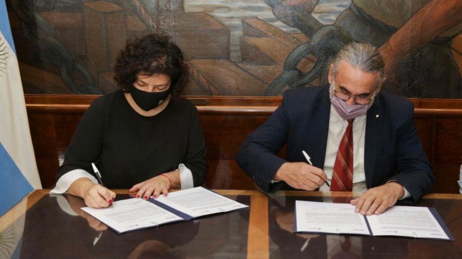Carla Vizzotti y Luis Basterra