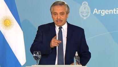 Anuncio del presidente Alberto Fernández acerca de las restricciones