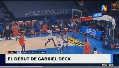 El debut Gabriel Deck en la NBA