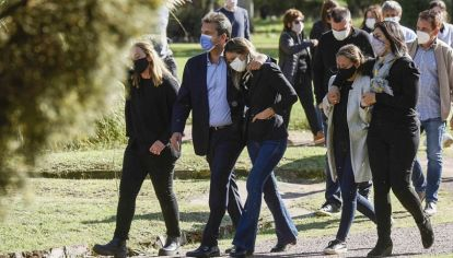 Massa y Galmarini en el funeral de Meoni