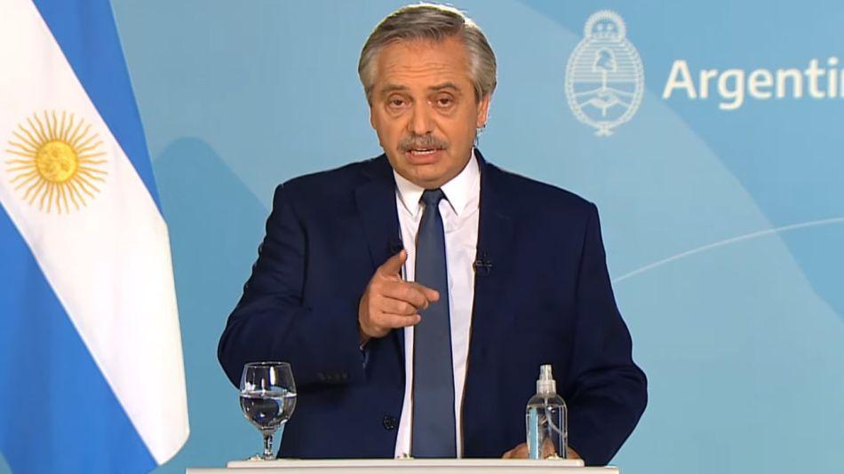 Anuncio del presidente Alberto Fernández acerca de las restricciones 20210430