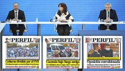 Otros tiempos. Guzmán con Alberto F y CFK, cuando acumulaba un peso clave. PERFIL fue anticipando la crisis.