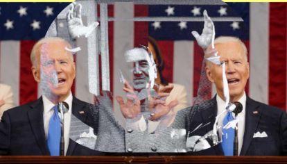 """Joe Biden dio un discurso por los 100 de su gobierno, con fragmentos estilo """"Juan Domingo Biden"""""""