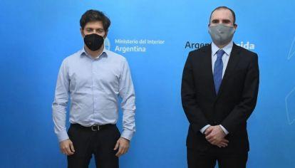 El Gobernador bonaerense y el ministro de Economía.