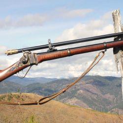 Una mira Malcom de seis aumentos montada sobre un rifle Sharp. Un conjunto de precisión que dio lugar al término sharpshooter.