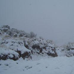 En la zona del cerro Champaquí la temperatura descendió a los 2 grados bajo cero.