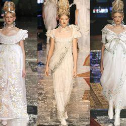 Dior alta costura 2005 inspirada en el amor de Josefina y Napoleón.