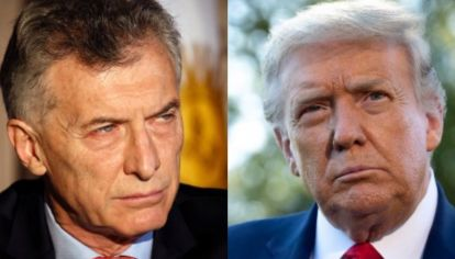 Donald Trump y Mauricio Macri.