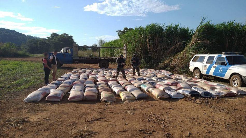 Decomiso de 10 toneladas de semilla de soja