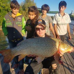 Carpas, las nuevas favoritas de los pescadores deportivos. Dan pelea y muchas satisfacciones usando equipos muy livianos.