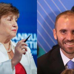 La titular del FMI, Kristalina Georgieva, y el ministro de Economía, Martín Guzmán