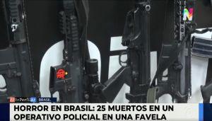 Operativo policial en Brasil