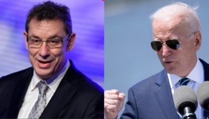 Albert Bourla, CEO de Pfizer, y Joe Biden.