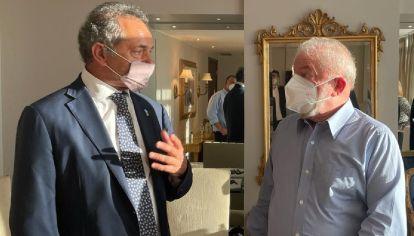 El embajador en Brasil, Daniel Scioli, se reunió con el ex presidente Luiz Inácio Lula da Silva