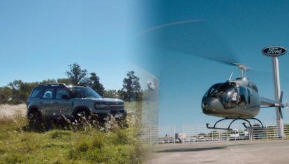 Pasó a retirar el nuevo Ford Bronco Sport y se lo llevaron en helicóptero