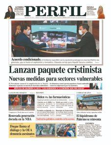 La tapa del Diario PERFIL del sábado 8 de mayo de 2021