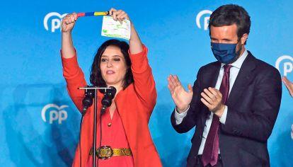 Populista. Isabel Díaz Ayuso logró un triunfo histórico en Madrid.