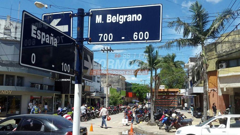 La esquina de Belgrano y España, pleno centro formoseño.