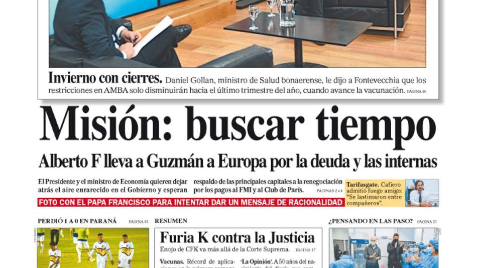 La tapa del Diario PERFIL del domingo 9 de mayo de 2021.