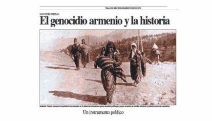 Polémica. El genocidio turco sobre los armenios se mantiene vivo. Cómo lo trata PERFIL.