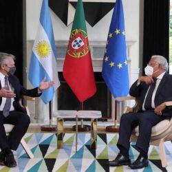 Alberto Fernández con Marcelo Rebelo de Sousa | Foto:cedoc