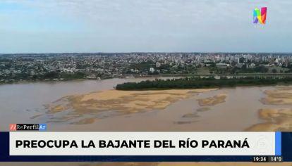 Preocupa la bajante del Río Paraná