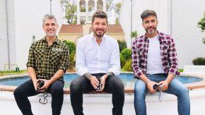 Chato Prada, Marcelo Tinelli y Federico Hoppe