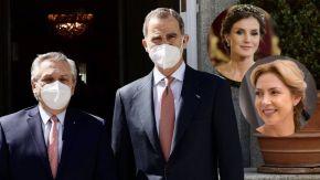 Sin Fabiola Yáñez ni Letizia Ortiz: así fue el encuentro de Alberto Fernández y el rey Felipe de España