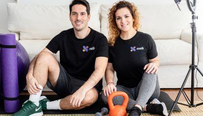 Tomás Berstein y Yamila Lede, los dos creadores de Meik App.