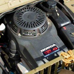 Se mueve gracias a un motor Honda de 13 CV de potencia.
