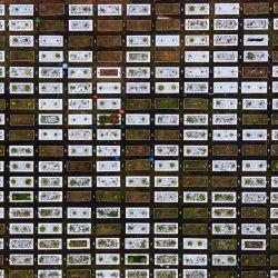 Una vista aérea muestra un cementerio musulmán vacío debido a un bloqueo parcial establecido por las autoridades que restringen los viajes dentro de cada estado y distrito, como una medida para frenar la propagación del coronavirus Covid-19, antes de Eid al-Fitr, que marca el final del Mes sagrado islámico de Ramadán, en Kuala Lumpur.   Foto:Mohd Rasfan / AFP