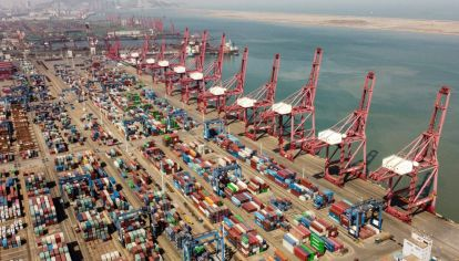 La terminal de contenedores del puerto de Lianyungang en Lianyungang, provincia de Jiangsu.