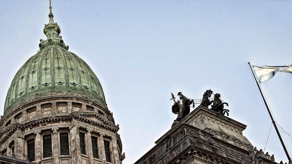 La cúpula del Congreso Nacional.