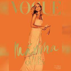"""Bajo el título """"Nuestra Reina"""", Máxima protagoniza la tapa de la edición de mayo de Vogue Holanda.   Foto:Cedoc."""