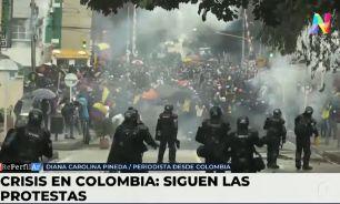 Continúan las manifestaciones en Colombia