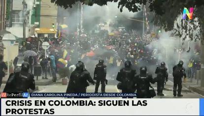 """""""El presidente no repudió los hechos de violencia"""", detalló la periodista colombiana, Diana Carolina Pineda."""