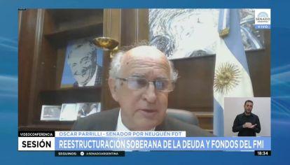 El senador Oscar Parrilli defendió el proyecto kirchnerista.
