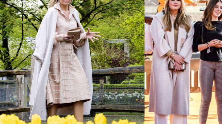 "Maxima Zorreguieta ""le robó"" un abrigo a su hija Amalia: así es el modelo de Maximo Dutti que comparten"